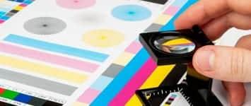 Paletas de colores imprenta